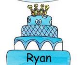 Personalized birthday cake card