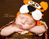 Download Now - CROCHET PATTERN Tiger Earflap Hat all sizes PDF 53