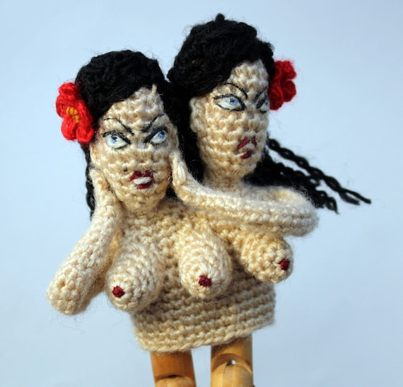 Conjoined Twins Finger Puppet (Reserved for Nadya)