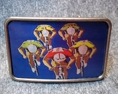 Belt Buckle - Bicycle Racing  Belt Buckle
