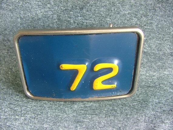 72 - Vintage License Plate Belt Buckle