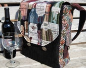 Tapestry Insulated Wine Shoulder Tote Bag