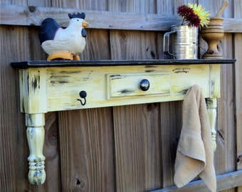 Rustic Table Style Shelf, Farm House Furniture