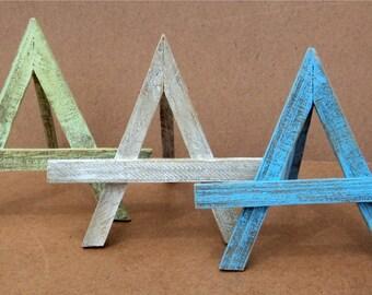 Set Of 3 Beach-y Table Top Art Easels, Photo Display, Art Holder