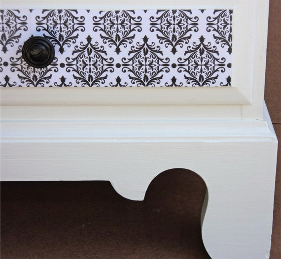 Night Stand, End Table Black And White Pre Loved Furniture