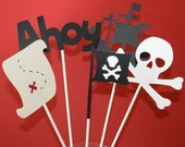 set of 5 Pirate Table Decorations