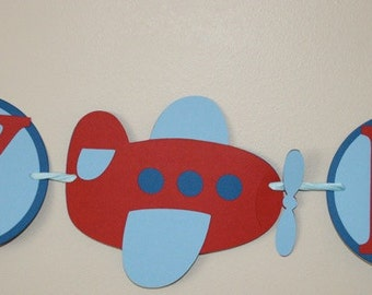 Airplane Deluxe Birthday Package Red Blue Plane