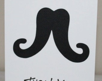 Mustache Thank you cards