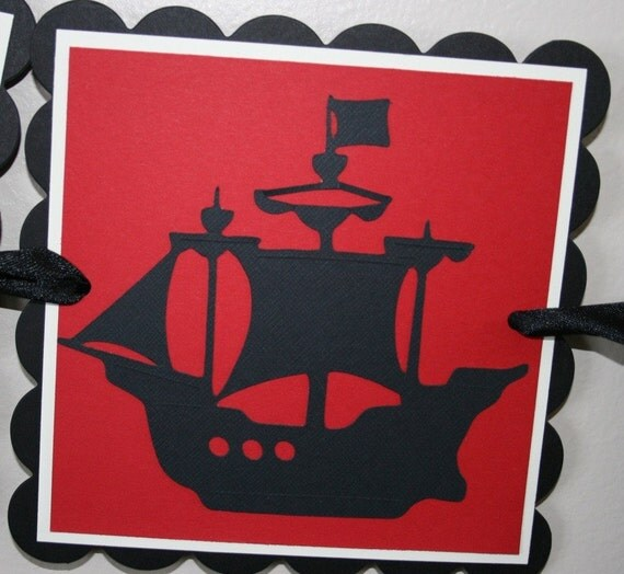 Pirate Ship Happy Birthday Banner