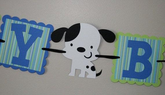Puppy Dog Birthday Banner