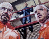 Breaking Bad Painting - Walter, Gus, and Jesse (2) - 16x30in