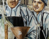 Walter and Jesse from Breaking Bad (3) - Ink and Paint - 30x16in