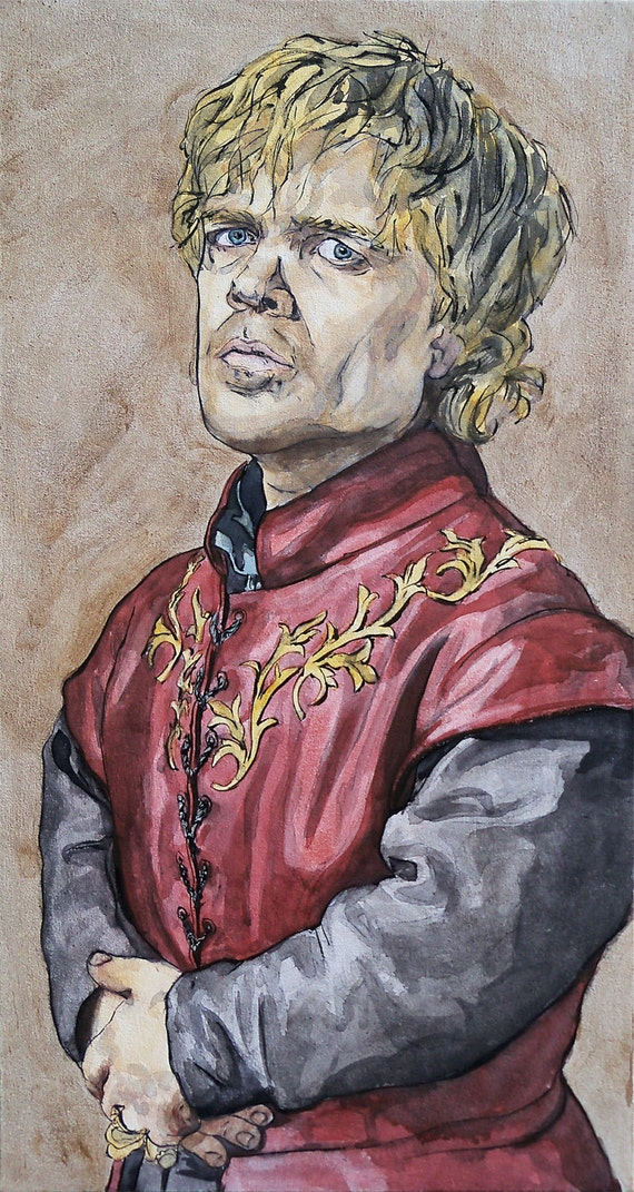 Original Mixed-Media painting of Tyrion Lannister from Game of Thrones