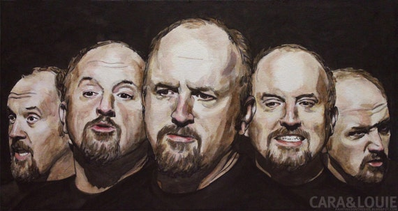 LOUIS CK - an original 16x30in painting on canvas