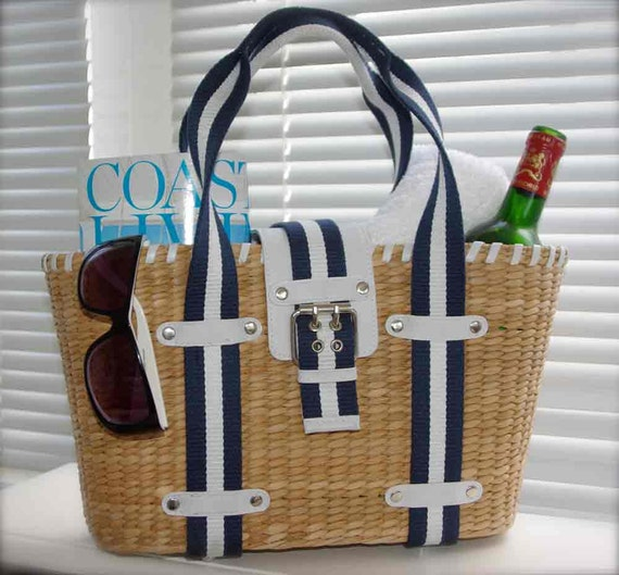 Nautical Wicker Hand Bag