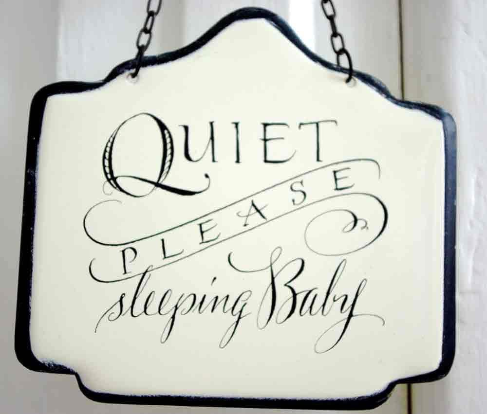 Quiet Please Baby Sleeping Sign