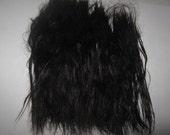 1/2 oz. Combed Black Suri Alpaca Fiber / doll hair / fur / mane / tail / fiber artist (F-29)