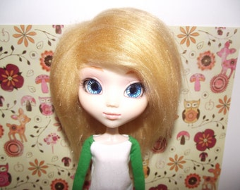 SALE A cute blond faux fur wig hair for Pullip/Taeyang