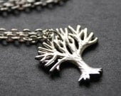 Silver Tree Necklace Tree Pendant Necklace
