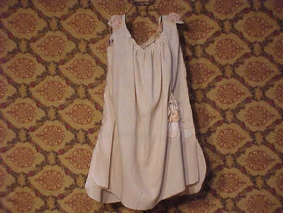 Hand dyed Muslin Espresso Shabby Chic tunic dress / OS OOAK