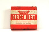 Vintage Challenge Rubber Stamp Office Outfit Set and Date Stamp