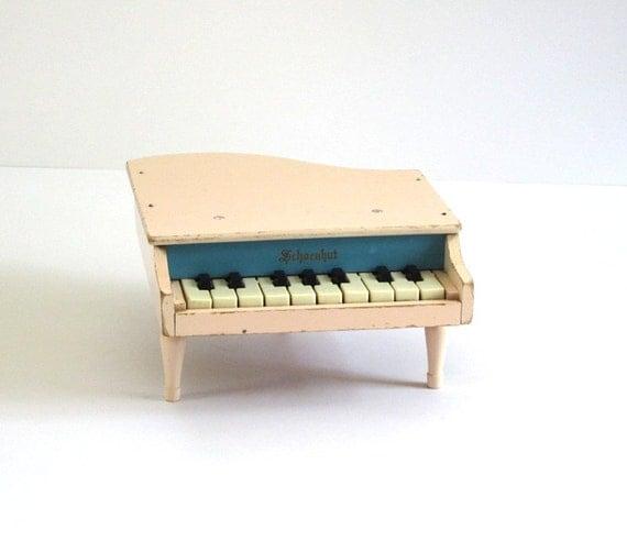 Vintage Schoenhut Toy Piano Baby Grand Circa 1950s