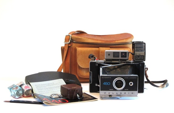 RESERVED for INES - Polaroid 450 Camera, Case and Accessories