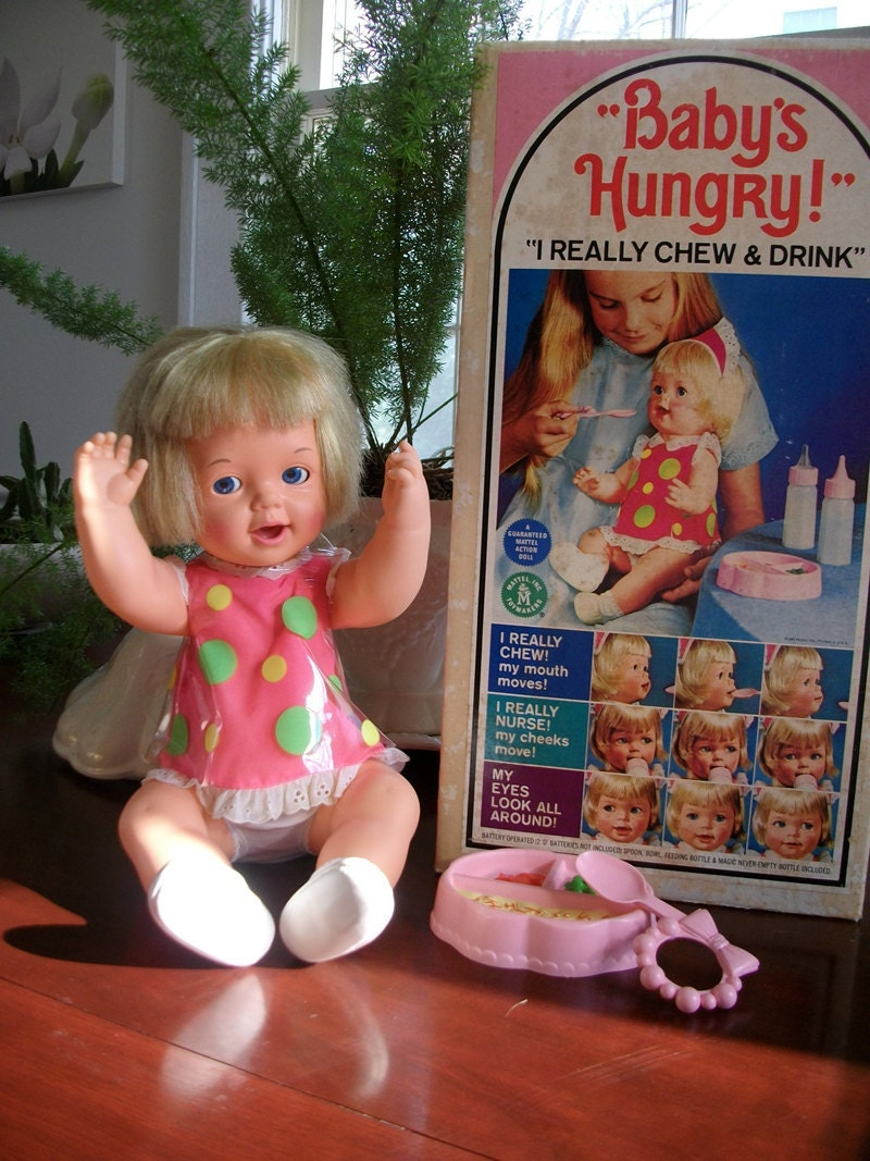 1966 Mattel Baby S Hungry Doll Box And By Lakesidecottage