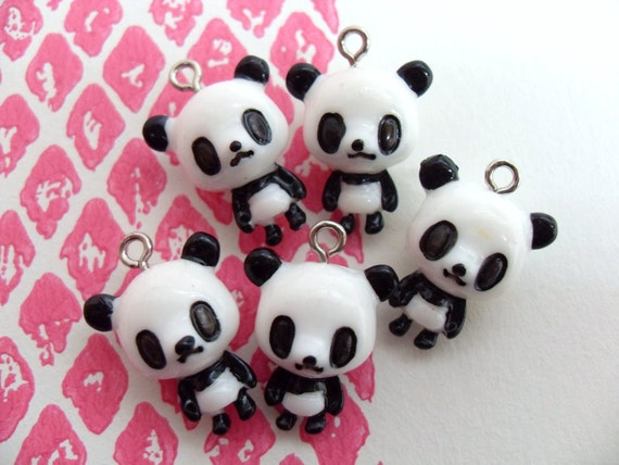 14x B grade Little Panda Charms