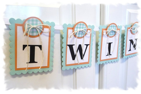 Items Similar To Twins Baby Shower Banner Nursery Banner