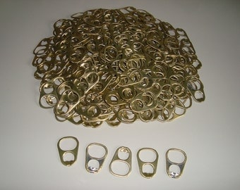 150 Large Aluminum Pull Tabs Gold Color Colored