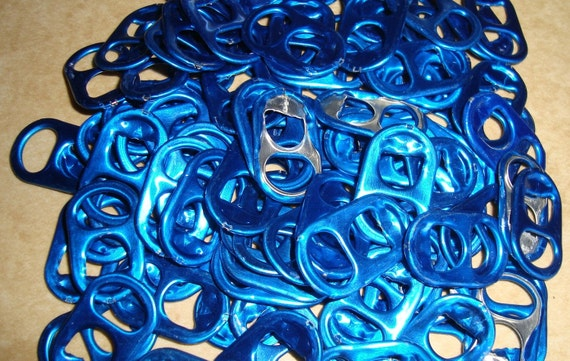 50 Blue Energy Drink Pull Tabs Soda Pop Can Tops Colored Color