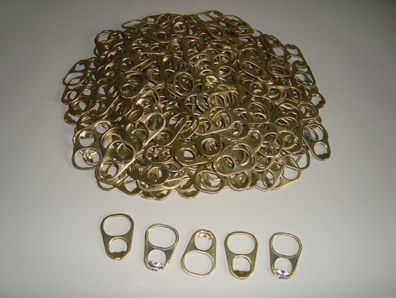 50 Large Aluminum Pull Tabs Gold Color Colored