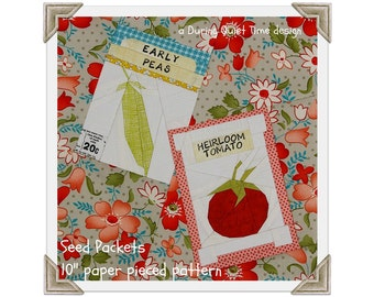 Seed Packets Paper Pieced Pattern