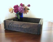 Vintage Coca Cola Wood Container Box