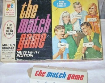 Vintage 1968 The Match Game from TV Milton Bradley 5th Edition