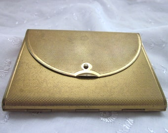 Vintage Envelope Loose Powder Compact By Coty 1940s 1950s Goldtone