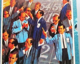 Vintage Stocks and Bonds -1964 Board Game by 3M Bookshelf  FREE SHIPPING
