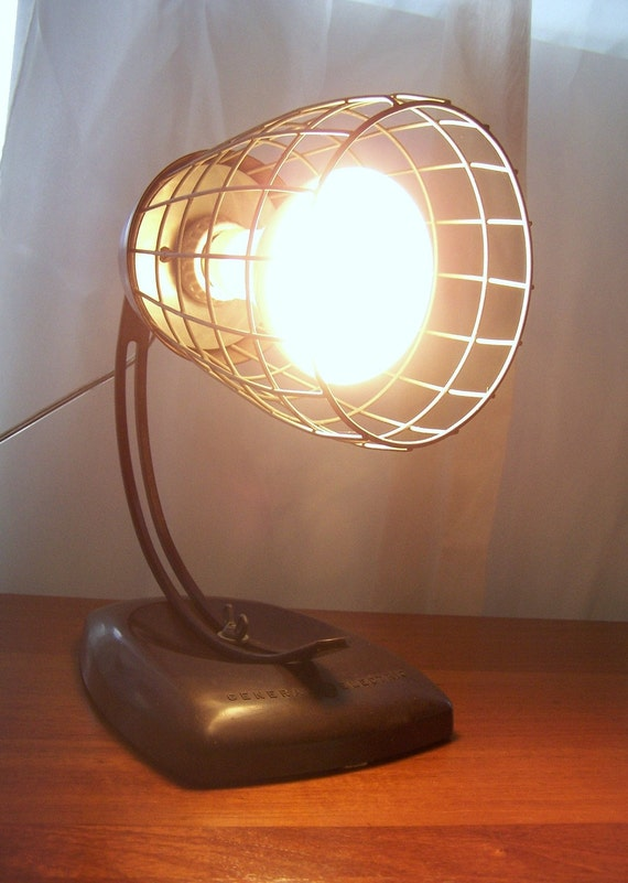 Vintage General Electric Theralux Infrared Portable Heat Lamp