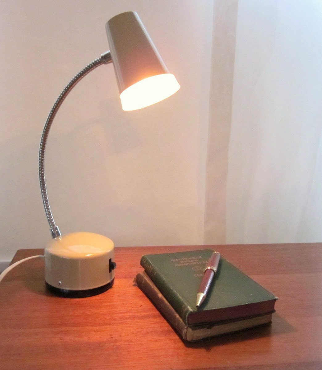 Vintage Norelco Desk Lamp Small Mid Century Modern Goose Neck