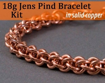 18g Jens Pind Bracelet Chainmaille Kit in Copper