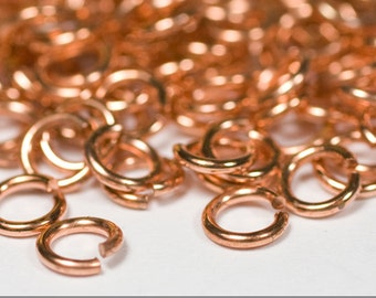 22g 3.0 mm ID 4.3 mm OD copper jump rings -- 22g3.00 open jumprings links