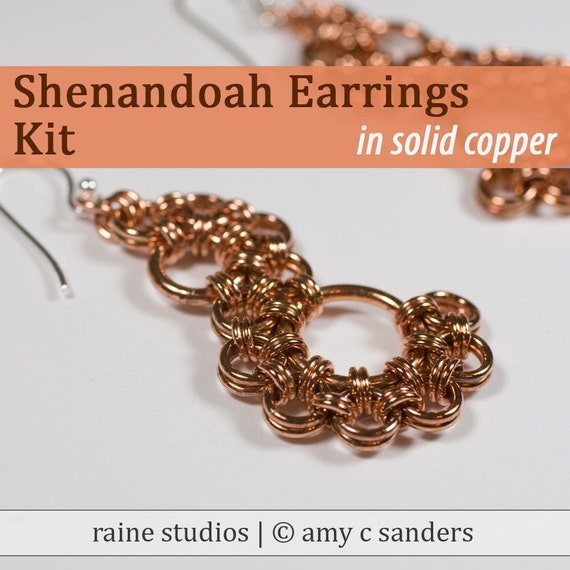 Out of Town 5/25-30/17: Shenandoah Earrings Chainmaille Kit in Copper