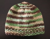 Sale - Mint Chocolate Chip Knitted Hat - READY TO SHIP