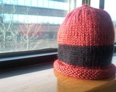 New Style - Lady Bug Roll Up Newborn Knitted Hat - READY TO SHIP