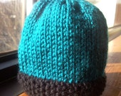 Sale - Teal-Tastic Knitted Hat - READY TO SHIP