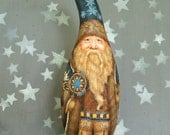 Reserved for LuLu of Germany, Native America Northwest Santa, Santa Gourd, 13 inches tall