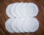 Cotton Facial Scrubbies, Set of 10, Choose your colors