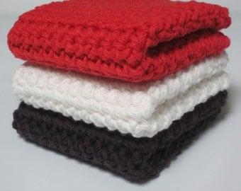 Cotton Wash Cloths, Set of 3