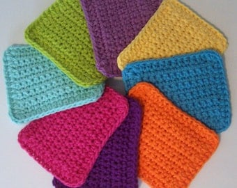 Cotton Crocheted Sponges / Set of 3 / Choose Your Colors